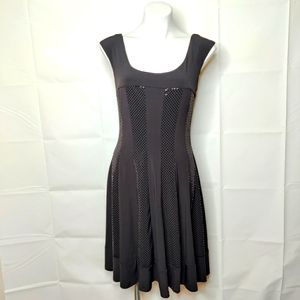 Connected Apparel Black Fit & Flare Bling Dress 10